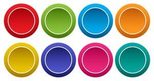 Kolorowy set round guziki wektor ilustracja wektor