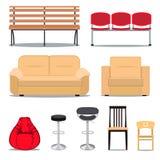 Kolorowy set siedzenia Obrazy Stock