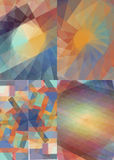 Kolorowy set tło dla biznesu Obraz Stock
