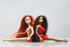 Kolorowy skład z Barbie lalami Fotografia Royalty Free