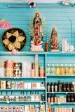 Kolorowy sklep w Sztokholm, Szwecja fotografia stock
