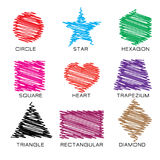 Kolorowy skrobanina kształt ilustracja wektor