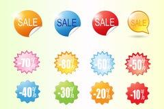 Kolorowy sprzedaży etykietki wektor Zdjęcie Stock
