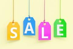 Kolorowy ` sprzedaży ` tekst Zdjęcie Stock