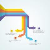 Kolorowy strzałkowaty infographic element dla biznesu Zdjęcie Royalty Free