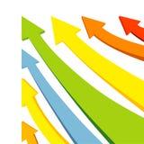 kolorowy strzała wektor Fotografia Royalty Free