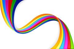 Kolorowy Swirly tło Zdjęcie Stock
