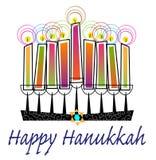 Kolorowy Szczęśliwy Hanukkah Zdjęcie Royalty Free