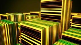 Kolorowy sześcianu neonowego światła tło, DOWODZONY sześcianu tło Pozafioletowy światło, jarzy się neonowych sześciany robić lini ilustracji