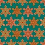 Kolorowy sześciokąta mandala bezszwowy wzór Zdjęcia Stock