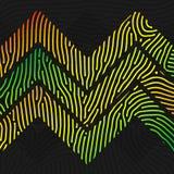 Kolorowy szewron wykładający wzór Fotografia Royalty Free