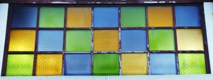 kolorowy szklany okno Zdjęcie Royalty Free