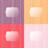 Kolorowy szklisty tło Fotografia Royalty Free