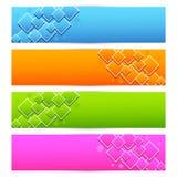 Kolorowy sztandar Fotografia Stock
