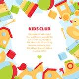 Kolorowy sztandar dla dziecko sztuki klubu ilustracji