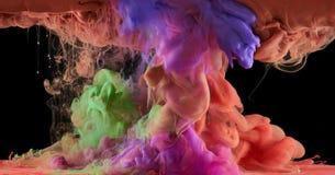 Kolorowy sztuka atrament Fotografia Royalty Free