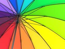 Kolorowy tęcza parasol na białym tle ilustracja 3 d royalty ilustracja