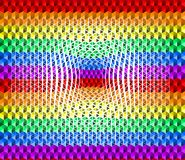 Kolorowy tęczy tekstury tło mali trójboków kształty, wklęśnięcie powierzchnia, LGBTQ dumy flagi kolory, bezszwowy wzór ilustracji