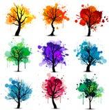 kolorowy tła drzewo Obrazy Stock