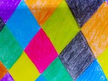 Kolorowy tło rysunek z kredką Obraz Stock