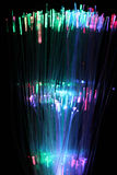 Kolorowy tło włókno sieci okulistyczny kabel Obrazy Royalty Free