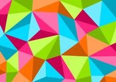Kolorowy tło w stylowym Niskim Poli-, geometrycznym wzorze, wektor ilustracja wektor