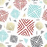Kolorowy tło z abstrakcjonistyczną plemienną sztuką Zdjęcie Royalty Free