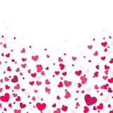 Kolorowy tło z Kierowymi confetti Walentynka dnia kartka z pozdrowieniami lub ślubny zaproszenia tła przyjęcia projekt Fotografia Royalty Free