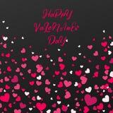 Kolorowy tło z Kierowymi confetti Walentynka dnia kartka z pozdrowieniami lub ślubny zaproszenia tła przyjęcia projekt Obraz Royalty Free