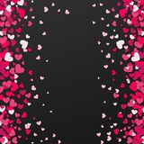 Kolorowy tło z Kierowymi confetti Walentynka dnia kartka z pozdrowieniami lub ślubny zaproszenia tła przyjęcia projekt Obraz Stock