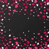 Kolorowy tło z Kierowymi confetti Walentynka dnia kartka z pozdrowieniami lub ślubny zaproszenia tła przyjęcia projekt Zdjęcie Stock