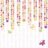 Kolorowy tło z liśćmi i motylami Fotografia Royalty Free