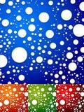 Kolorowy tło z przypadkowymi, rozrzuconymi okręgami, abstrakcjonistyczna kropka royalty ilustracja