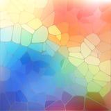 Kolorowy tło z tęczy geometryczną mozaiką ilustracja wektor