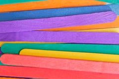 kolorowy tła drewno Zdjęcia Royalty Free