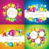 kolorowy tło urodziny Ilustracji