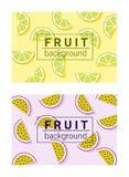 Kolorowy tło z owoc 4 Zdjęcie Stock
