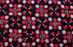 Kolorowy Tajlandia stylu dywanika powierzchni zakończenie w górę rocznik tkaniny jest m Obrazy Royalty Free