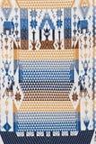 Kolorowy tajlandzki handcraft peruvian cutton stylu dywanika powierzchni zakończenie up Fotografia Royalty Free