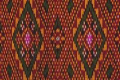 Kolorowy tajlandzki jedwab handcraft peruvian dywanika powierzchni stylowego zakończenie w górę Więcej ten motywu & więcej tkanin Obrazy Stock