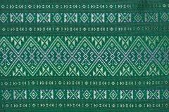 Kolorowy tajlandzki jedwab handcraft peruvian dywanika powierzchni stylowego zakończenie w górę Więcej ten motywu & więcej tkanin Zdjęcia Stock