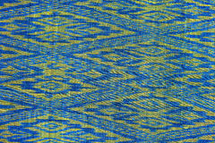Kolorowy tajlandzki jedwab handcraft peruvian dywanika powierzchni stylowego zakończenie w górę Więcej ten motywu & więcej tkanin Zdjęcia Royalty Free