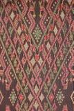 Kolorowy tajlandzki jedwab handcraft peruvian dywanika powierzchni stylowego zakończenie w górę Więcej ten motywu & więcej tkanin Zdjęcie Royalty Free