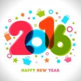 Kolorowy tekst dla Szczęśliwego nowego roku świętowania Obrazy Royalty Free