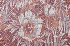 Kolorowy tkanina adamaszek z kwiatami obraz royalty free