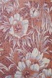 Kolorowy tkanina adamaszek z kwiatami obrazy stock