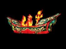 Kolorowy tkanina lampion buduje jako Tajlandzka antykwarska łódź, Ja dzwoni Rua KoLae (KoLae łódź) Zdjęcie Stock
