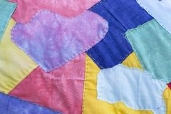 Kolorowy tkanina wzoru projekta tło Obrazy Stock