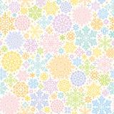 Kolorowy tło z śnieżnymi kryształami i doilies Fotografia Stock