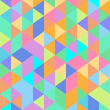 Kolorowy trójboka wzór Zdjęcie Royalty Free